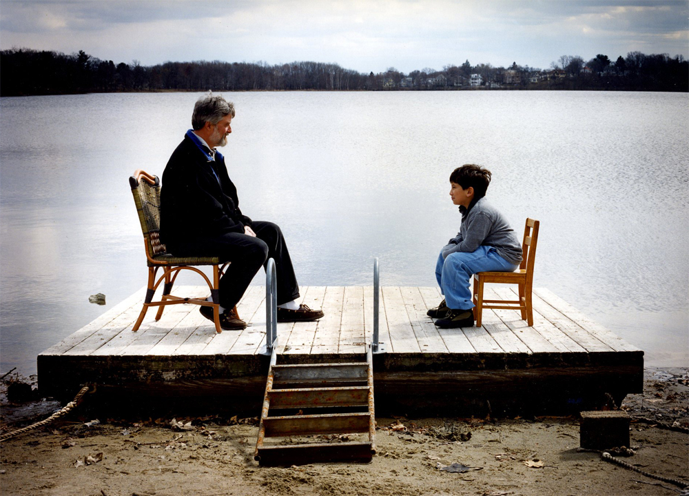Michael Thompson, Ph.D. and son, Will at home in Arlington, MA